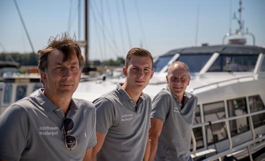 De mannen van Jachtmakelaardij Dordrecht
